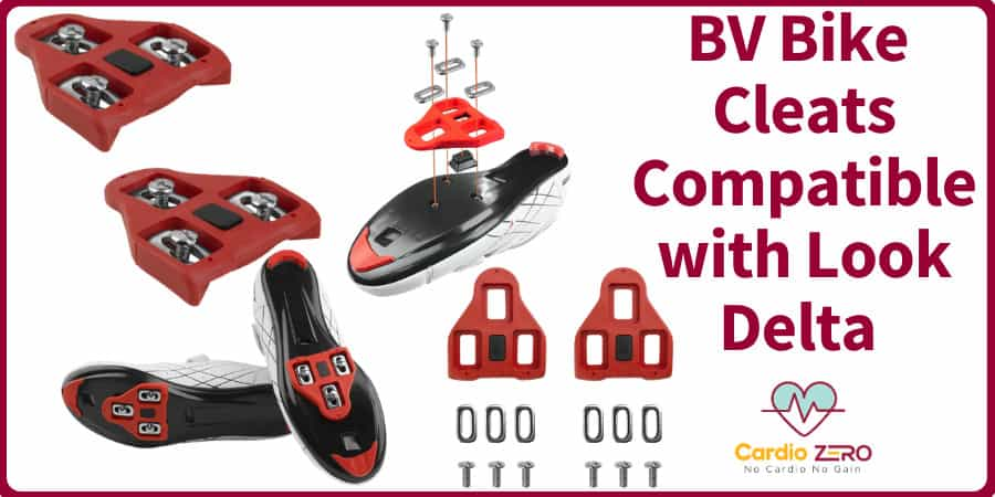 BV Bike Cleats Compatible with Look Delta